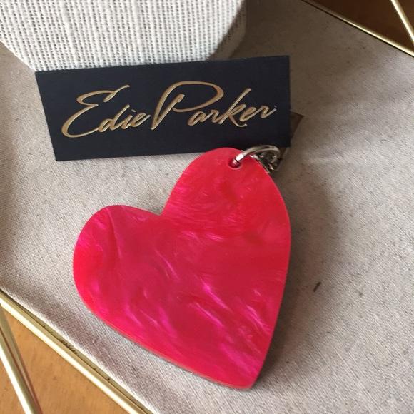 Edie Parker Heart Bag Charm KvsEG7dO